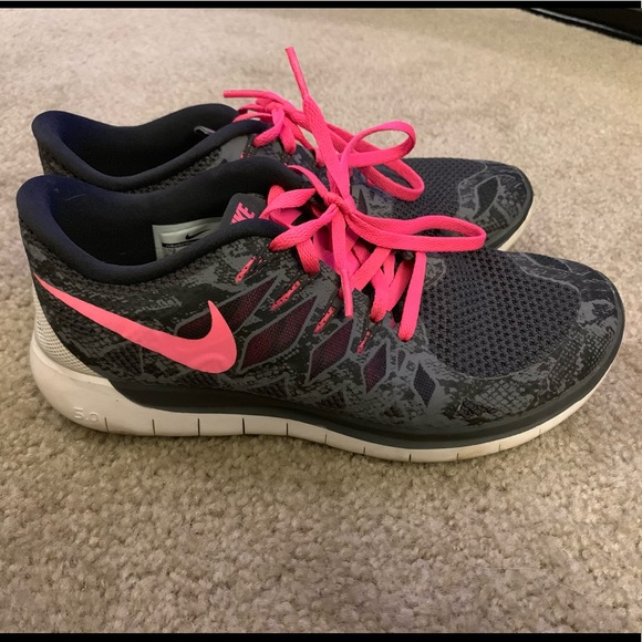 Nike Women's Free 5.0 Print Running Shoes